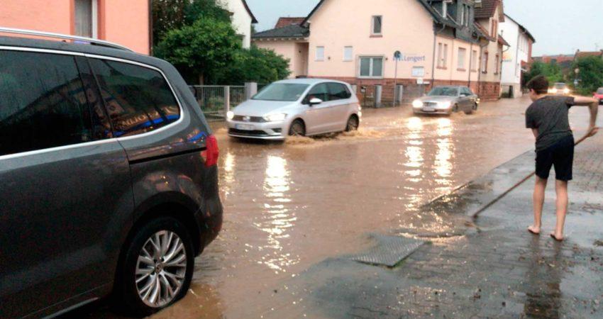 Hochwasser in Somborn