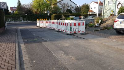Defekte Strasse in Somborn